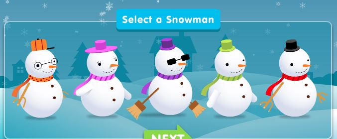 Link to abcya.com snowman game