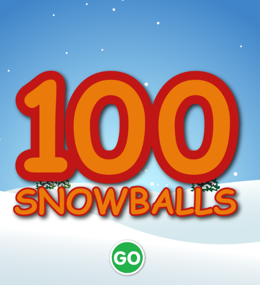 link to 100 snowballs game