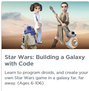 Star Wars Building a Galaxy with code link